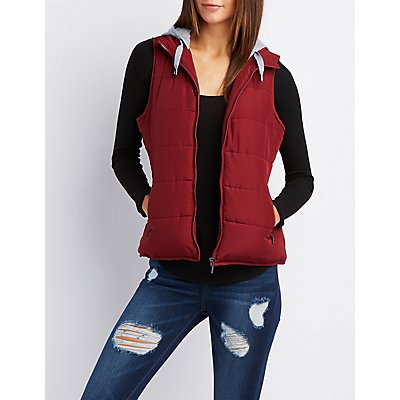 Hooded Quilted Puffer Vest