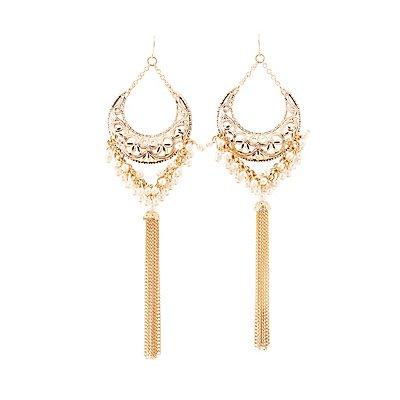 Embellished Chandelier Earrings