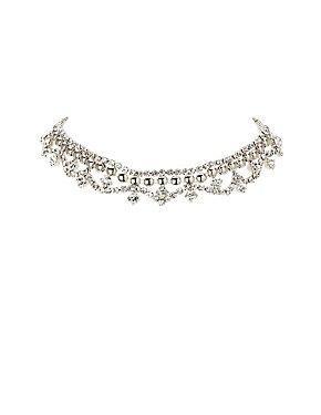 Embellished Chandelier Choker Necklace