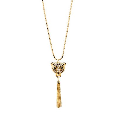 Embellished Panther Necklace