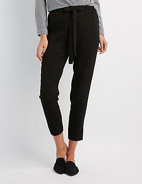 Tie Front Crepe Pants