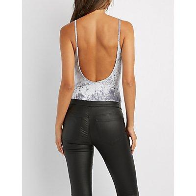 Velvet Backless Bodysuit