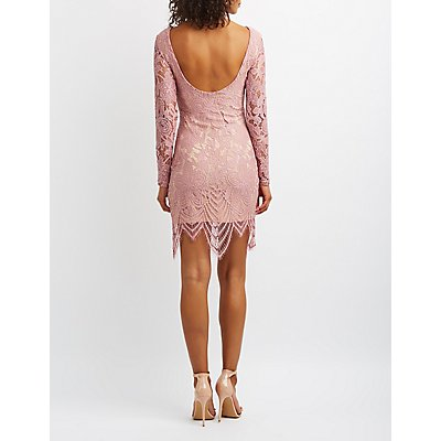 Eyelash Lace Bodycon Dress