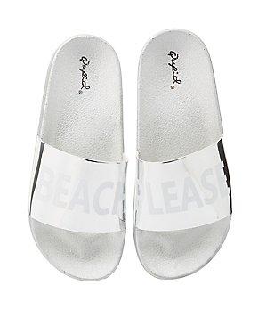 Qupid Beach Please Slide Sandals