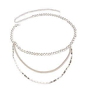 Plus Size Chainlink Layered Belt