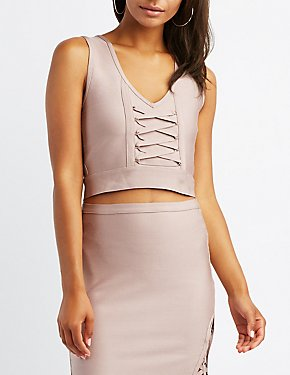 Bandage Lace-Up Crop Top