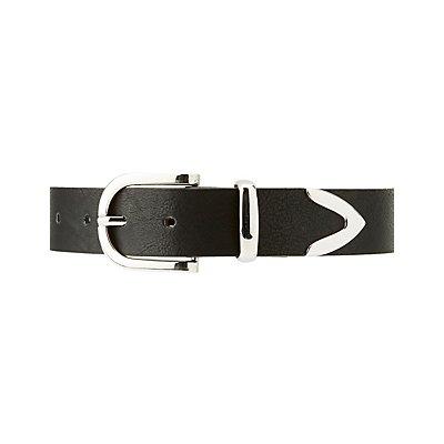 Plus Size Metal-Tipped Belt