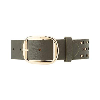 Plus Size Studded Laser Cut Belt