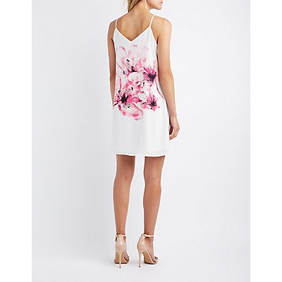 Floral Strappy Shift Dress