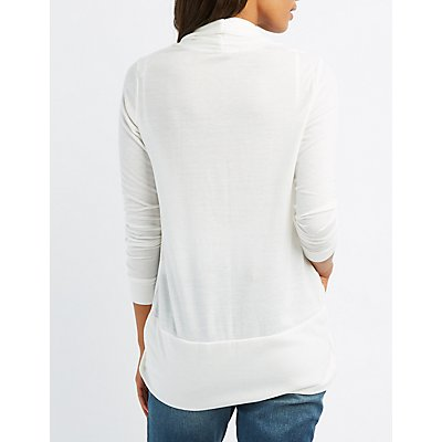 Open-Front Cocoon Cardigan