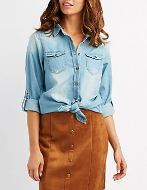 Chambray Button-Up Shirt