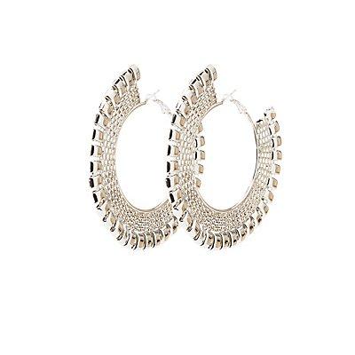 Textured Oversize Hoop Earrings