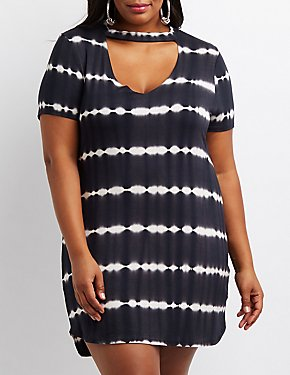 Plus Size Tie Dye T-Shirt Dress