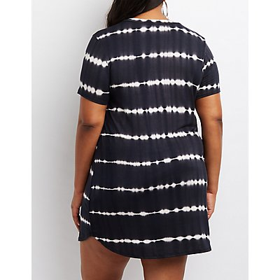 Plus Size Tie Dye T-Shirt Dress