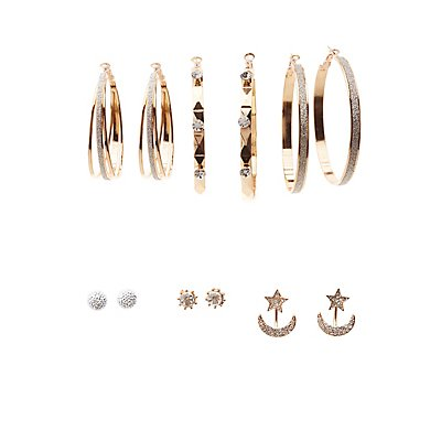 Embellished Hoop, Stud & Earrings Jackets - 7 Pack