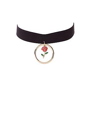 O-Ring Rose Choker Necklace