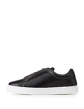 Qupid Zip-Up Sneakers