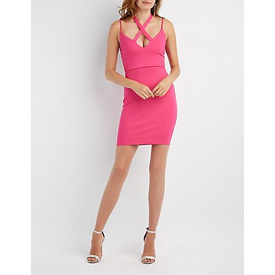Crisscross-Front Bodycon Dress