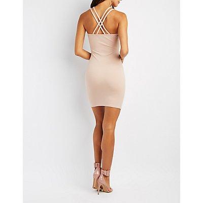 Embellished Strappy Bodycon Dress