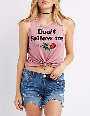Don't Follow Me Crop Top