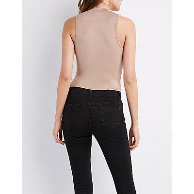 Choker Neck Graphic Bodysuit