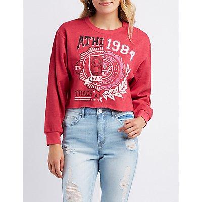 Graphic Cropped Sweatshirt