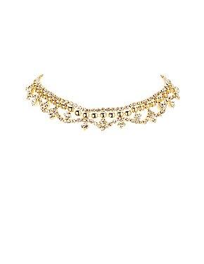 Plus Size Embellished Chandelier Choker Necklace