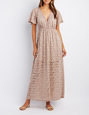 Lace V-Neck Maxi Dress