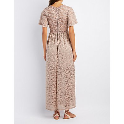 Lace V-Neck Maxi Dress