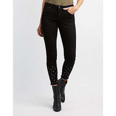 Refuge Studded Denim Skinny Jeans