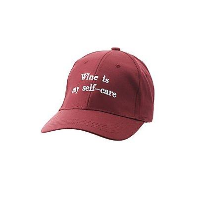 Wine Is My Self Care Baseball Hat