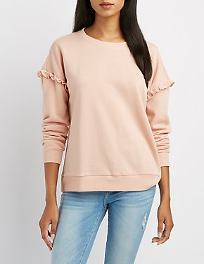 Ruffle-Trim Sweatshirt