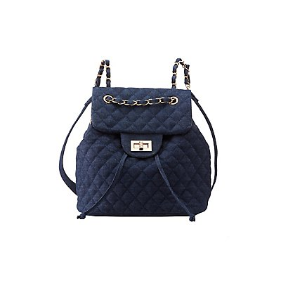 Quilted Chambray Backpack
