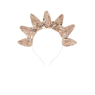 Metallic Floral Crown Headband