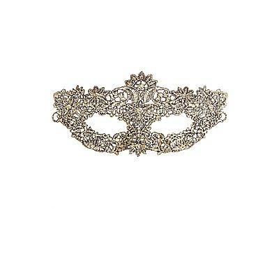 Metallic Floral Face Mask