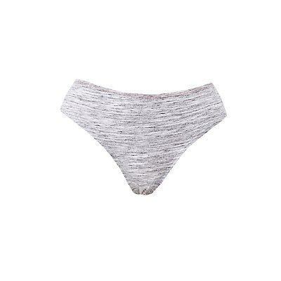 Plus Size Space Dye & Floral Lace Cheeky Panties