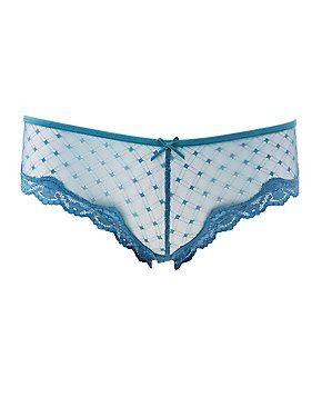 Caged-Back Swiss Dot Cheeky Panties