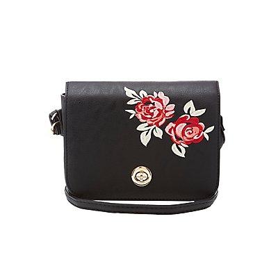 Floral Patch Crossbody Bag