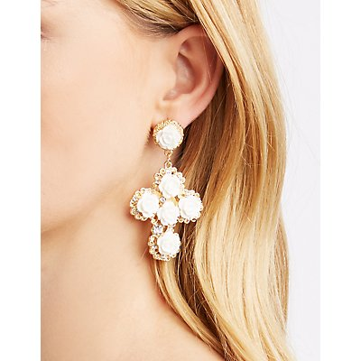 Rosette Statement Earrings