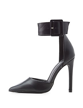 D'Orsay Ankle Strap Pumps