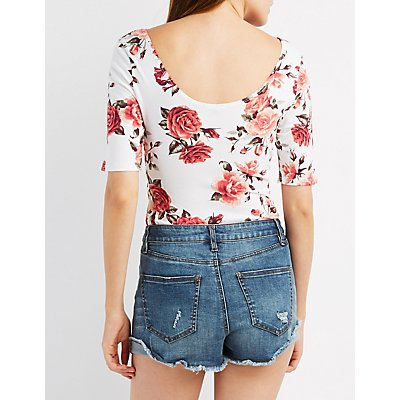 Floral Short Sleeve Bodysuit
