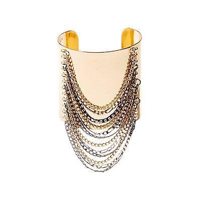 Chain-Trim Cuff Bracelet