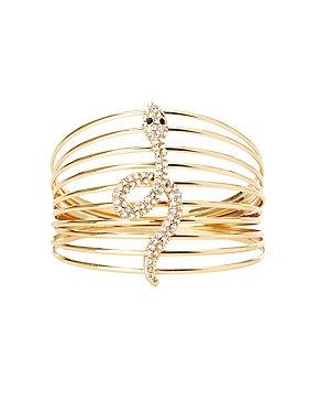 Crystal Caged Snake Bracelet