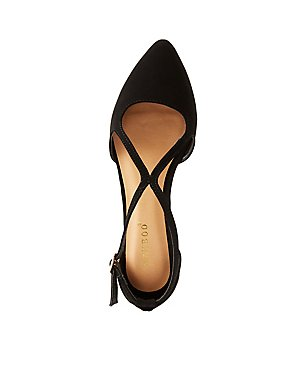 Bamboo Strappy Pointed Toe D'Orsay Flats