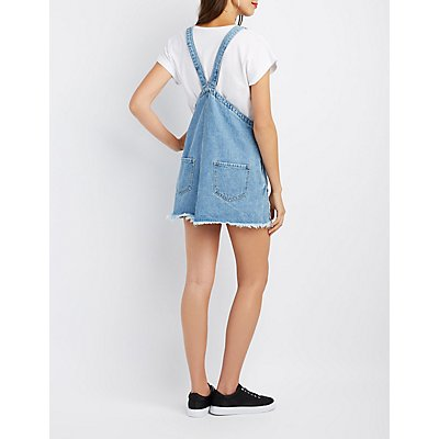 Cello Destroyed Overall Dress