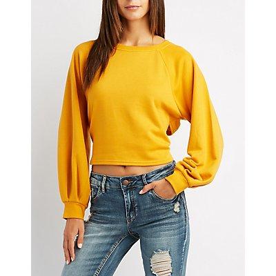 Tie-Back Pullover Sweatshirt