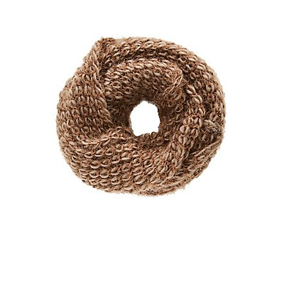 Heather Knit Infinity Scarf