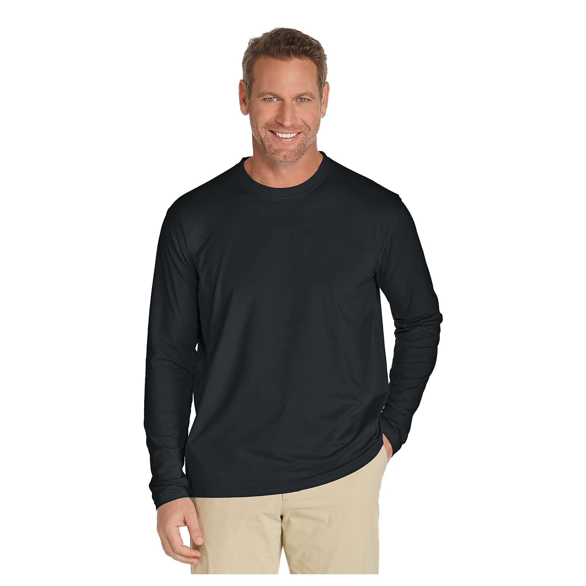 coolibar upf 50 mens zno long sleeve t shirt sun protective