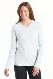 ZnO Long-sleeve V-Neck T-Shirt