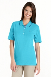 ZnO Convertible Golf Polo with Tipping